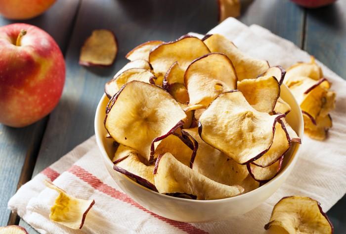التفاح المجفف :