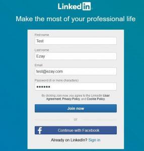 موقع Linkedin كيفية عمل بروفايل