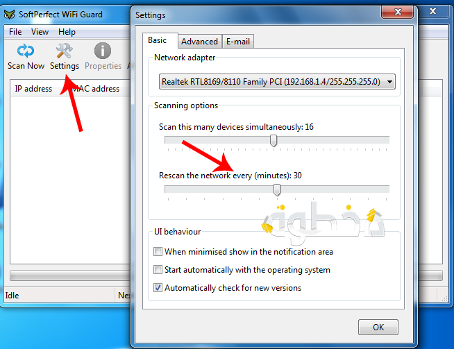 كيف تعرف المتصلين معك بنفس الشبكة باستخدام برنامج Wifi Guard 7